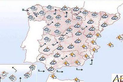 Media España en alerta por lluvias y fuertes vientos