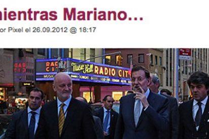 Un fotógrafo de vacaciones en NY hunde a Rajoy con la foto del puro