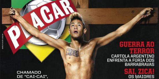 La Iglesia de Brasil, indignada con la imagen de Neymar crucificado