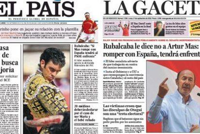 La increíble metamorfosis de El País: con Rajoy y con los toros