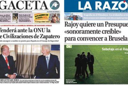 Si Rajoy se mira en un espejo, sale el reflejo de Zapatero