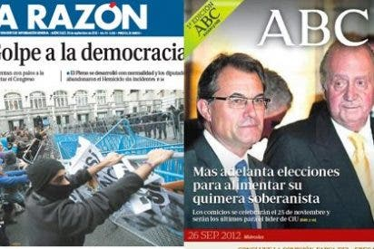 Mal día para la democracia: disturbios cerca del Congreso y Mas, directo a la secesión