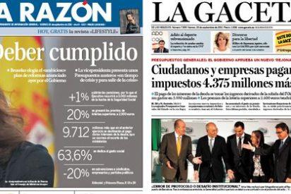 ABC y La Razón 'canonizan' a 'Sor Aya' y su tijera presupuestaria