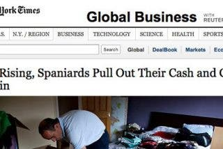 """The New York Times: """"Los españoles sacan su dinero y se van del país"""""""