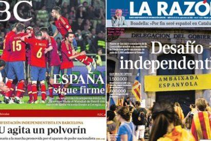 España sigue firme para ABC...¡en fútbol! mientras Mas juega a la secesión