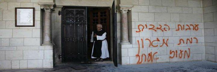 Pintadas anticristianas en Tierra Santa: 'Jesús es un burro'