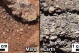 El Curiosity descubre en Marte rocas hechas por corrientes de ríos