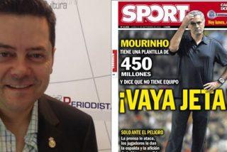 """Tomás Roncero le saca los colores al diario 'Sport' por atacar a Mourinho en su portada: """"Viven obsesionados con el Madrid de manera patológica. Son incapaces de disfrutar con las grandezas del Barça"""""""