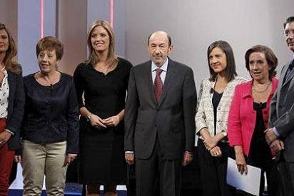 Rubalcaba 'torea' en TVE a Camacho, Prego, Anabel, Del Riego, Gómez y Casado