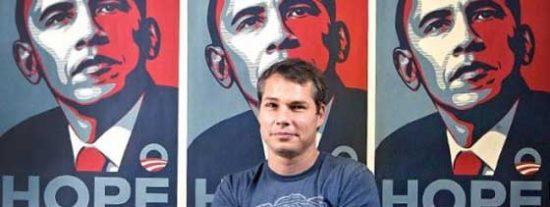 El autor del cartel 'Hope' de Obama, condenado por alterar pruebas en el juicio con Associated Press
