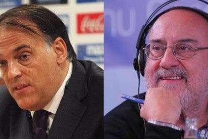 """Javier Tebas (LFP) encaja mal un artículo de Alfredo Relaño criticando su gestión: """"Qué desinformado estás. Parece mentira en un director de AS"""""""