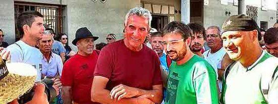 El 'Follonero' se suma a la marcha jornalera de Sánchez Gordillo