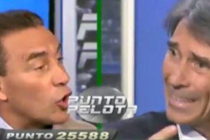 "'Lobo' Carrasco y Paco Buyo vuelven a escenificar sus diferencias en 'Punto Pelota': ""Te respeto como profesional, pero cuando hablas como un forofo me desvinculo de ti"""