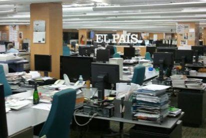 Desolador aspecto de la redacción de El País en el primer día de paros parciales
