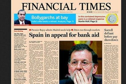 """'The Financial Times': """"España se prepara para pedir el rescate pero no usará el dinero"""""""
