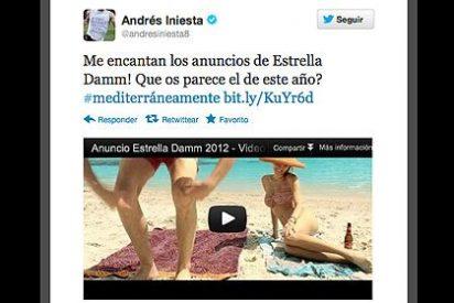 Iniesta, Villa, Puyol, Víctor Valdés y Arbeloa nos 'cuelan' publicidad en Twitter