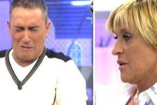 Chelo García Cortés por fin explota en directo y se enfrenta brutalmente a Kiko Hernández aunque sale muy mal parada