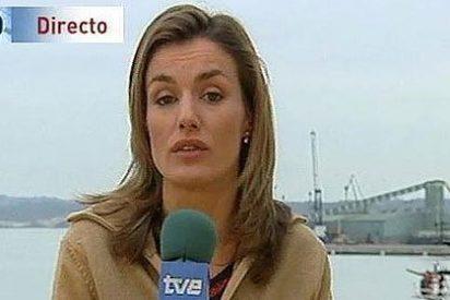 Cuando Letizia era sólo periodista y reporteaba en Galicia