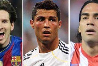 El 'Pichichi' es cosa de Leo Messi, Cristiano Ronaldo y Radamel Falcao