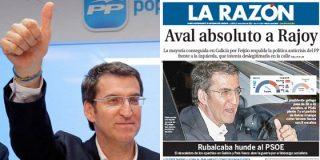 """Si hubiera perdido Feijóo, ¿titularía La Razón """"Rechazo absoluto a Rajoy""""?"""