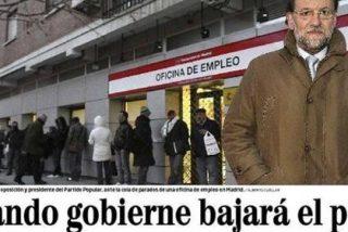 La cruda realidad del paro rompe los sueños (y las fotos) de Rajoy