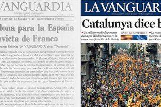 """'La Vanguardia' pasa del """"Franco caudillo victorioso"""" al """"Catalunya es una nación"""""""