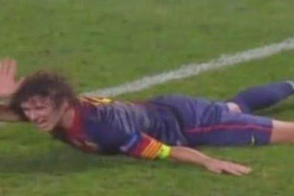 La lesión en el codo de Puyol oscurece la victoria del Barça en Lisboa