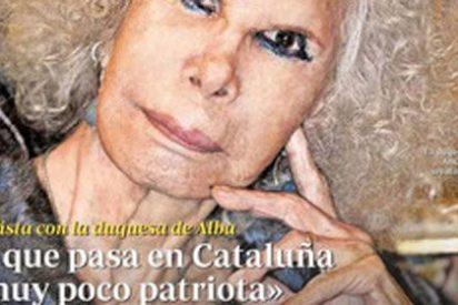 """La duquesa de Alba alecciona en la portada de 'ABC': """"Lo que pasa en Cataluña es muy poco patriota"""""""
