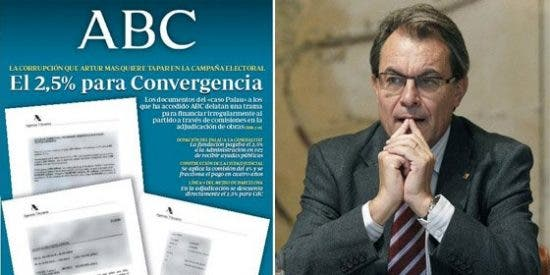 ABC destapa la trama corrupta de Artur Mas para financiar al partido