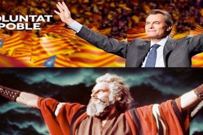 """Quim Monzó (La Vanguardia) : """"Como un día Moisés se portó mal, Dios lo castigó y murió sin pisar la Tierra Prometida. Pobre Mas"""""""
