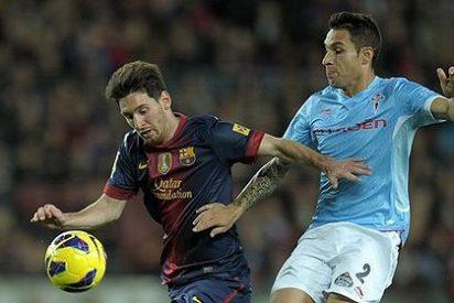 Messi se hizo daño en la rodilla en la victoria del Barça ante el Celta de Vigo