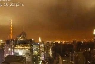 El paso del huracán 'Sandy' por Nueva York en cuatro minutos desde la azotea del New York Times
