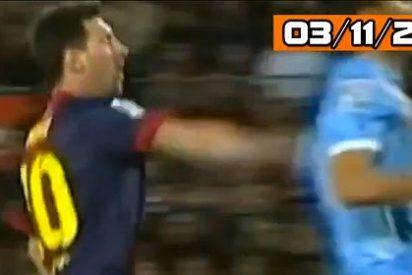 Leo Messi le propinó un puñetazo por la espalda al jugador del Celta Jonathan Vila