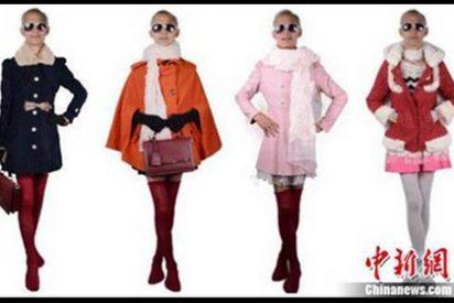 Un chino de 72 años arrasa como modelo de ropa femenina