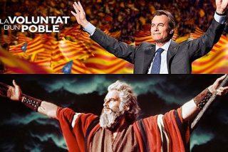 Artur Mas se pone en plan Moisés-Charlton Heston en los 'Diez Mandamientos'