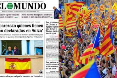 """Así se las gasta el nacionalismo catalán: """"O quitas el sucio trapo español o te buscarás un problema"""""""