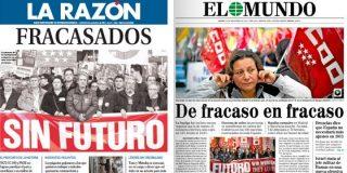 """UGT y CCOO tras el 14-N: """"fracasados y sin futuro"""""""