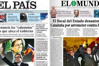 """El País vende a sus lectores que el fiscal tilda de """"calumnias"""" la campaña del El Mundo contra Mas"""