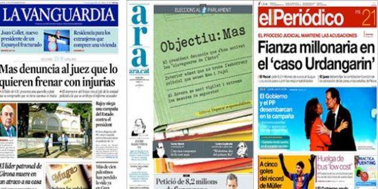 La prensa catalana, un oasis para CiU