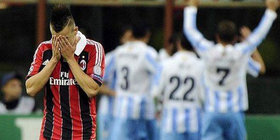 El Málaga empata en Milán y se clasifica para octavos de Champions