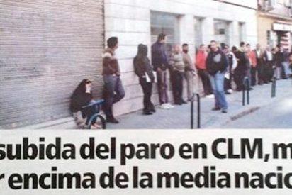 Un conocido medio autonómico afín al PSOE truca las imágenes para alarmar sobre el paro en CLM