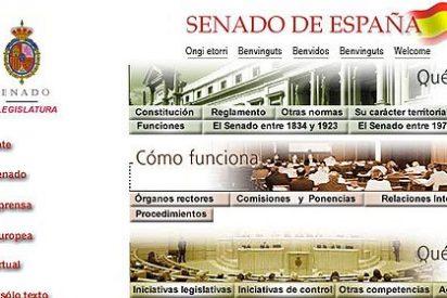 El Senado se gasta casi medio millón de euros en cambiar su web y la presenta tan ufano