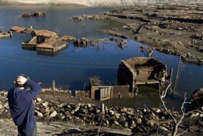 Una aldea de Orense, sepultaba bajo las aguas durante 20 años, sale 'milagrosamente' a flote