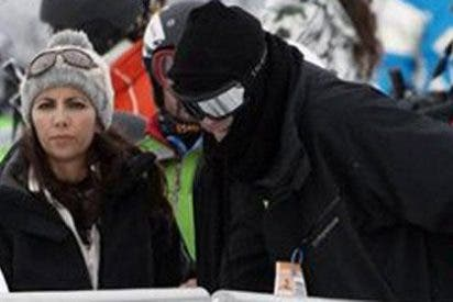 Los periodistas Ana Pastor y Antonio García Ferreras inician la temporada de snowboard