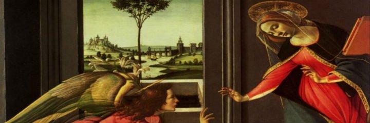Sueño de Benedicto con Gabriel: sacra familiaridad