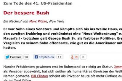'Der Spiegel' mata al ex presidente George Bush padre y publica su obituario