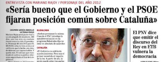 El Mundo regala a Rajoy una entrevista-masaje por Navidad
