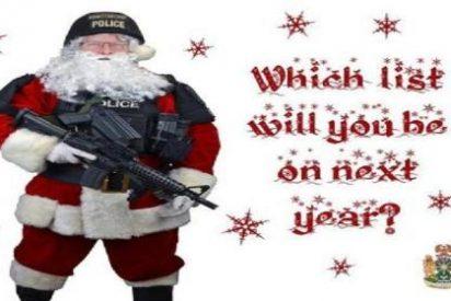 La policía canadiense tiene el detalle de enviar a los criminales tarjetas por Navidad