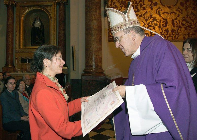 Entrega de títulos del Instituto Diocesano de Ciencias Religiosas de Valencia