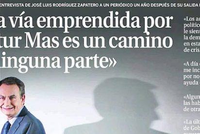 Zapatero reaparece en 'La Razón' con la misma amnesia que en 'laSexta TV'